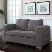 Inari Stonewashed Gray Loveseat - LUT1871