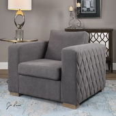 Inari Stonewashed Gray Armchair - LUT1873