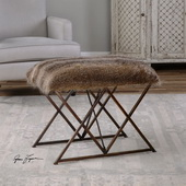 Brannen Plush Small Bench