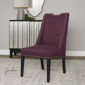 Pippa Purple Accent Chair