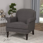 Alroy Charcoal Gray Armchair