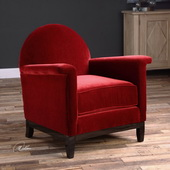 Sheelah Cherry Red Accent Chair