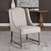 Lyra Leather Accent Chair - LUT5559