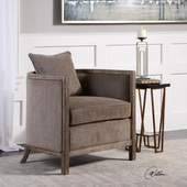 Viaggio Gray Chenille Accent Chair - LUT5579