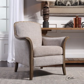 Brittoney Taupe Armchair - LUT5591