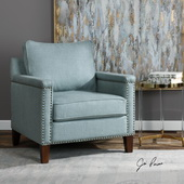 Charlotta Sea Mist Accent Chair - LUT5607