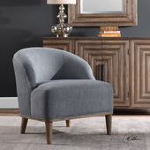 Nerine Silver Blue Accent Chair - LUT5613