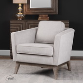 Varner Beige Linen Accent Chair - LUT5625