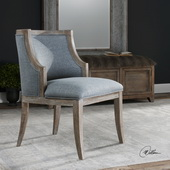 Galloway Steel Blue Accent Chair - LUT5631