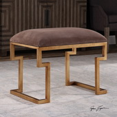 Lennon Small Leather Bench - LUT5639