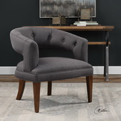 Ridley Charcoal Linen Accent Chair - LUT5641