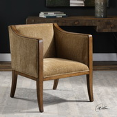 Milson Caramel Fabric Club Chair - LUT5651