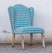 Winesett Blue Armless Chair  - LUT7719