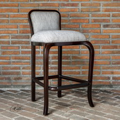 Tilley Mahogany Bar Stool - LUT5685