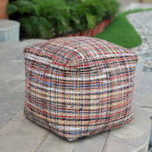 Nyala Multi Colored Pouf - LUT5699