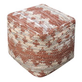 Rewa Beige/Brown Pouf - LUT5709
