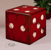 Dice Red Accent Table  - LUT7733