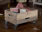 Stratford Reclaimed Wood Rolling Box  - LUT7749