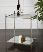 Gannon Mirrored Glass End Table  - LUT7766