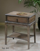Hanford Weathered Accent Table  - LUT7781
