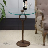 Diogo Glass Accent Table  - LUT7803