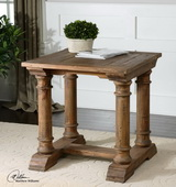 Saturia Wooden End Table  - LUT7807