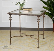 Quillon Glass End Table  - LUT7829