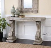 Partemio Distressed Console Table  - LUT7865