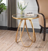 Montrez Gold Accent Table - LUT1927