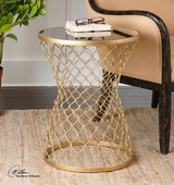 Naeva Gold End Table - LUT1949