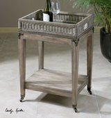 Davaughn Wooden Serving Cart - LUT1953