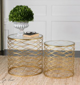 Zoa Gold Accent Tables Set/2 - LUT1957