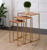 Copres Oxidized Nesting Tables Set/3 - LUT1985