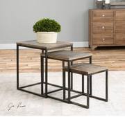 Bomani Wood Nesting Tables Set/3 - LUT2005