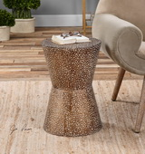 Cutler Drum Shaped Accent Table - LUT2007
