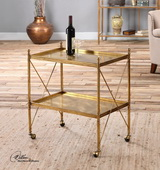 Amaranto Gold Serving Cart - LUT2011