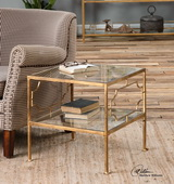 Genell Gold Cube Table - LUT2033