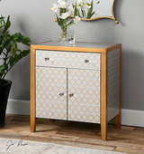 Karolina Mirrored Accent Chest - LUT2073