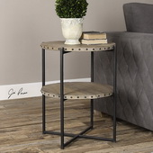Kamau Round Accent Table - LUT2131