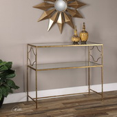 Genell Gold Iron Console Table - LUT2143