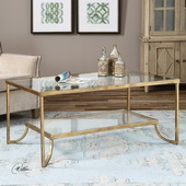 Katina Gold Leaf Coffee Table - LUT2145