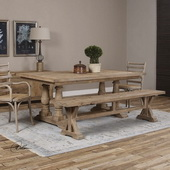 Stratford  Salvaged Wood Dining Table - LUT2169