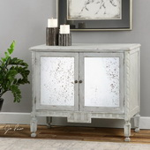Okorie Gray Console Cabinet - LUT2181