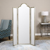Neema Three Paneled Mirror Screen
