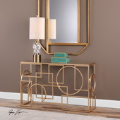 Metria Gold Console Table - LUT5735