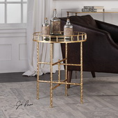 Tilly Bright Gold Accent Table - LUT5741