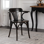 Huck Black Accent Chair - LUT5763