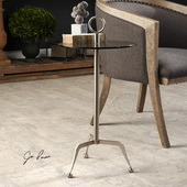 Astro Stainless Steel Accent Table - LUT5787