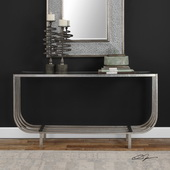 Arlice Bright Silver Console Table - LUT5805