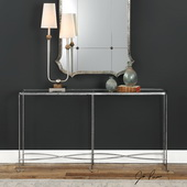 Aubrey Silver Console Table - LUT5811